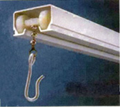 ceiling mounted shower rod track