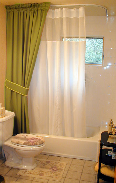 Curtains Ideas ceiling track shower curtain : Shower Rods: Custom Ceiling Shower Curtain Rods