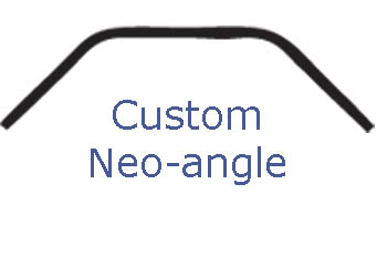 custom neoangle shower rod